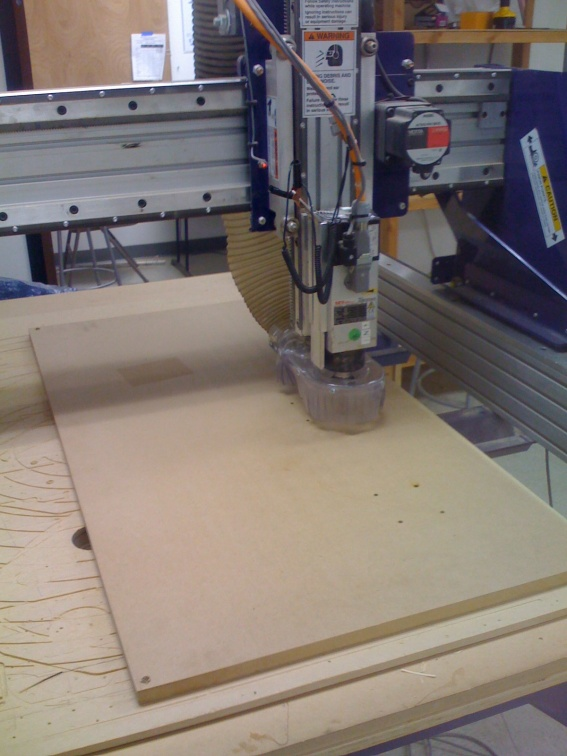 cnc machine starts cutting