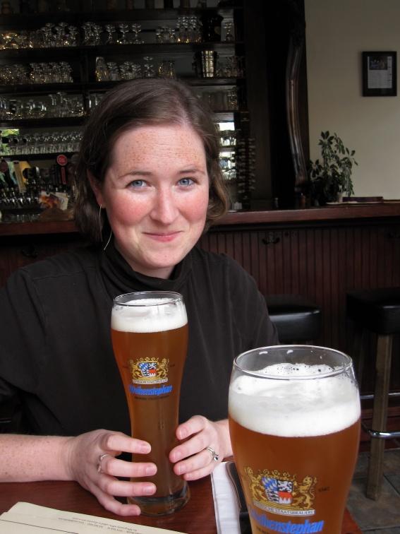 leslie with beer