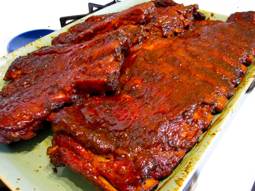 Finished spareribs