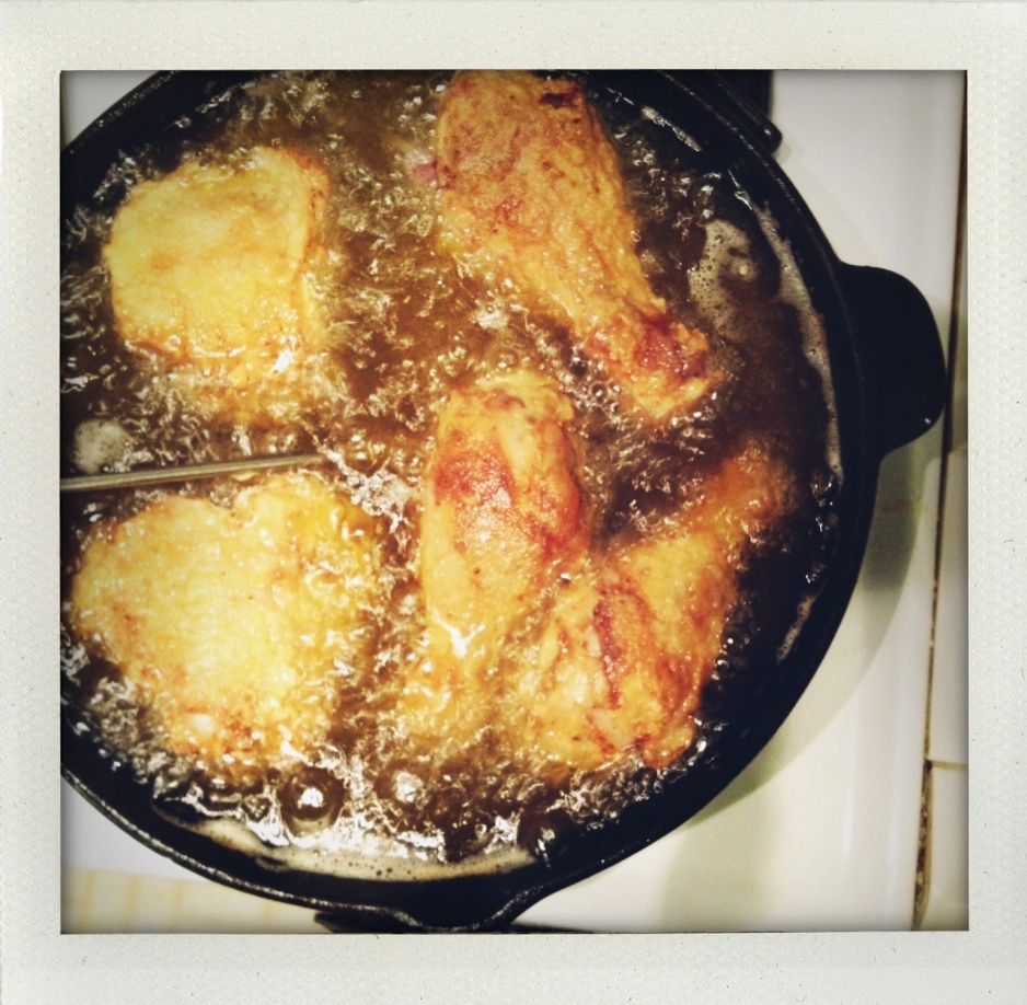 chicken frying