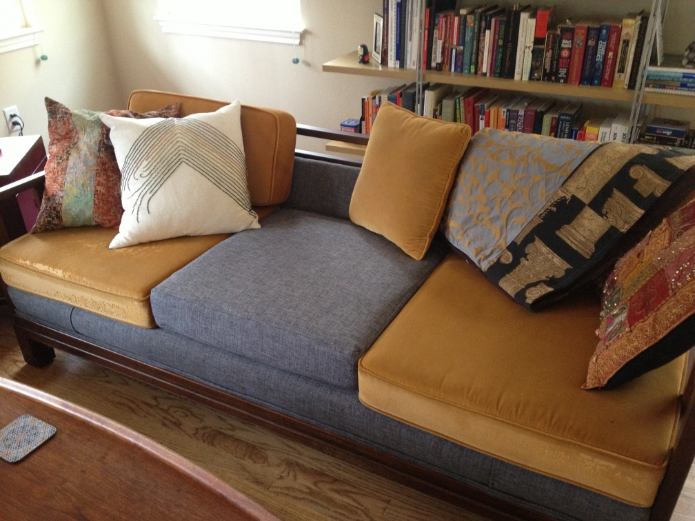 two-tone couch