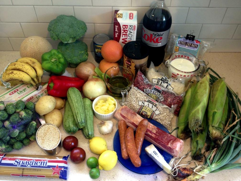 week of groceries