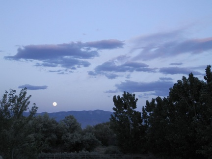 moon over sandias