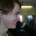 Bryan in the airplane