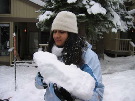 21 mauli contemplates eating her snow baby